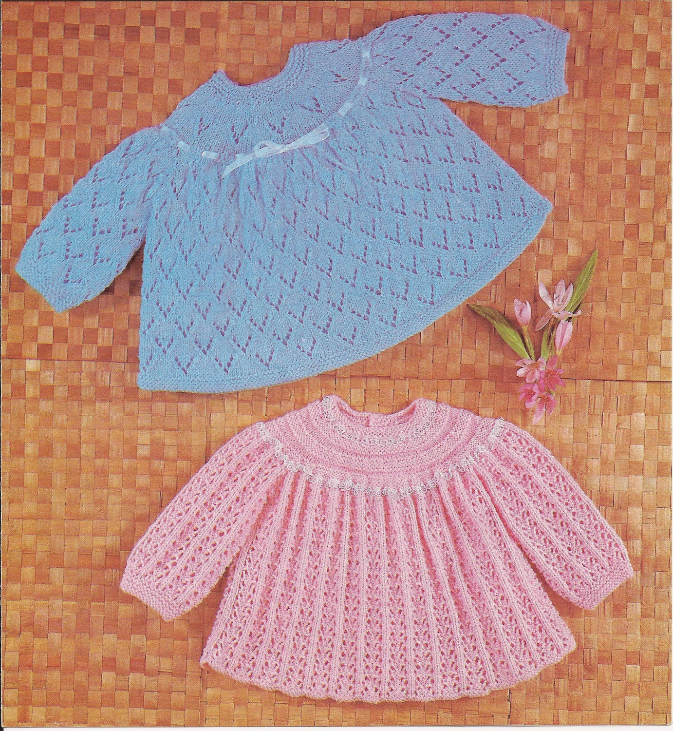 PDF Knitting Pattern Vintage Knitted Baby Angel by georgie8109