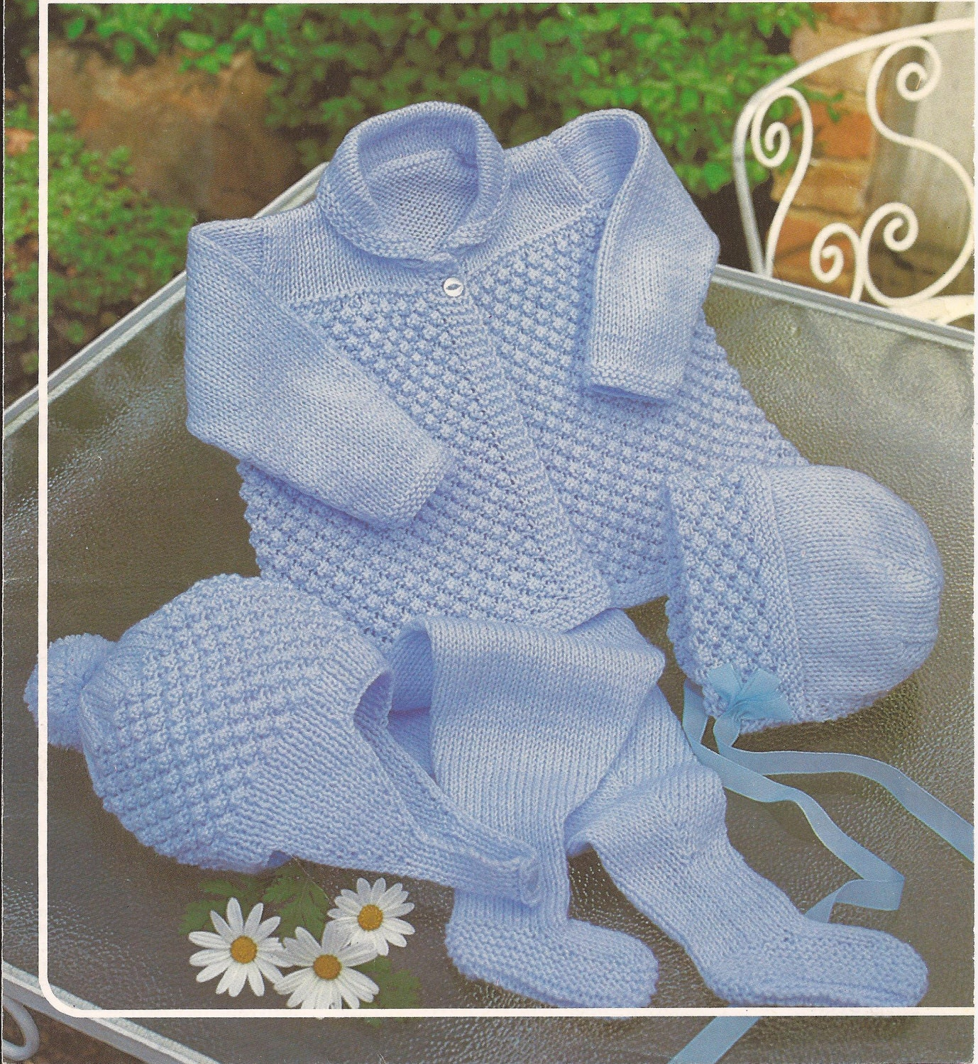 Vintage Knitting Baby Boy/Girl Pram Set Knitting Pattern PDF