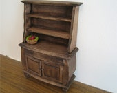 Hutch, country style, , dollhouse miniature, twelfth scale,