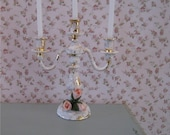 Dollshouse Candelabra, tatty chic accessory, hand finished, twelfth scale dollhouse accessory
