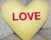 LOVE Conversation Heart Pillow