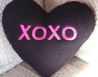 XOXO Conversation Heart Pillow