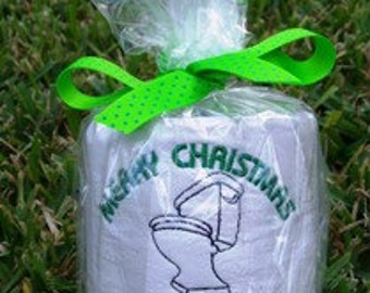 King of the Throne - Christmas Embroidered Toilet Paper