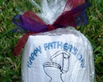 King of the Throne - Father's Day Embroidered Toilet Paper