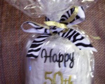 50th Anniversary Embroidered Toilet Paper