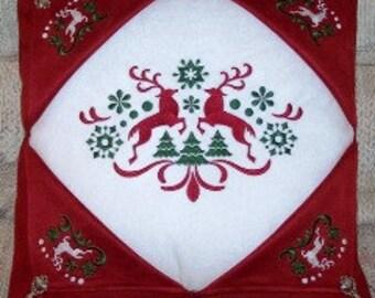 Christmas Reindeer Window Pillow