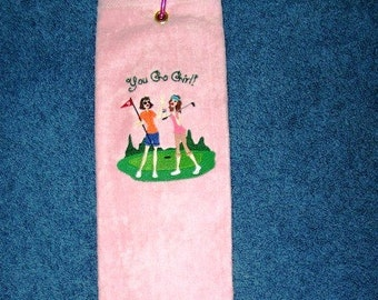 You Go Girl Golf Towel