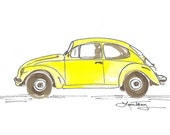 Punch Buggy - Watercolor in Sunshine Yellow
