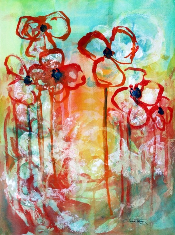 Summer in Bloom Abstract Print