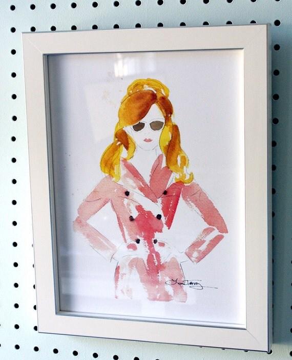 Framed Fashion Illustration