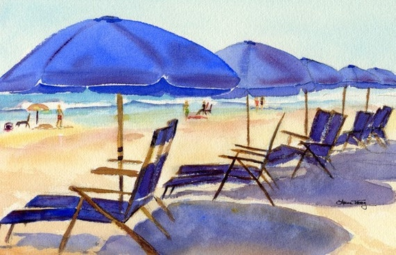 Beach Chairs, by Laura L. Trevey