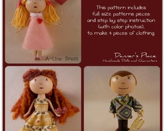 Clothespin Doll Basic Clothes Pattern