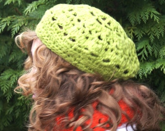 Ladies Hat PATTERN for Crochet Beret