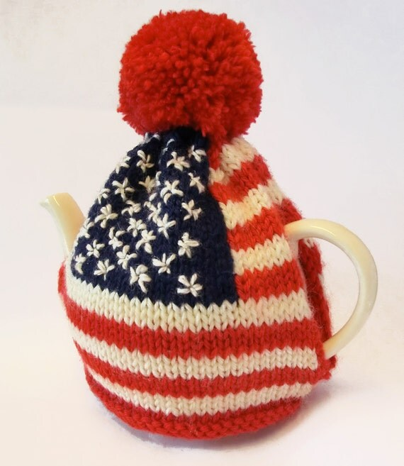 Knitting Pattern Us Flag : American Flag Tea Cosy Knitting Pattern