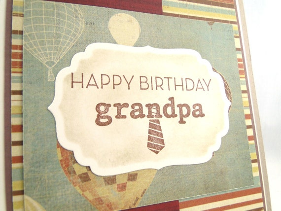 grandpa grandfather birthday greeting card by apaperbuffet on etsy, Birthday card