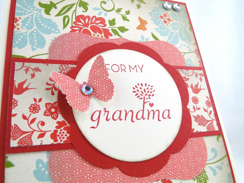 Homemade Birthday Cards For Grandma ~ Grandmother grandma birthday greeting card