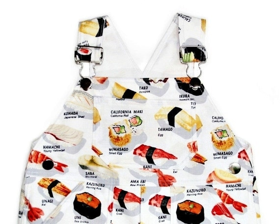 Overall in Yummy Sushi - Size 12/18 month (LAST ONE)