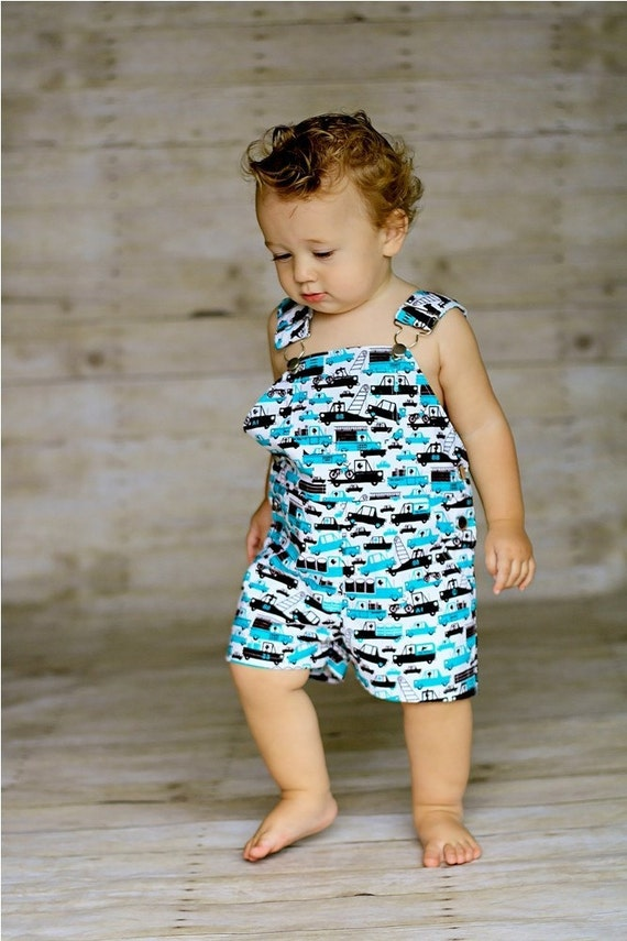 Shortall in Turquoise Tow Trucks - 12/18 Months (LAST ONE)