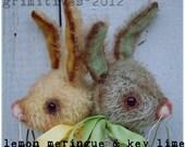Primitive Mohair Easter Bunny Rabbit Doll