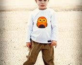 Boys.... Owl Outfit... Applique Shirt and Beige/Khaki Corduroy Pants.... handmade childrens clothing by laken and lila....