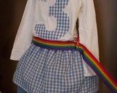 Somewhere Over The Rainbow..... Wizard of Oz...... Dorothy Inspired Outfit....baby...toddler...girls... boys....eco-friendly design...handmade childrens clothing by laken and lila