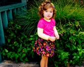 The Bella Mae Couture Collection......Fall Cotton Twill Owl Twirl Skirt... handmade childrens clothing by laken and lila