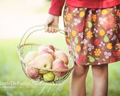 The Brooklyn Collection....An Apple A Day.... Twirl Skirt...handmade childrens clothing by laken and lila