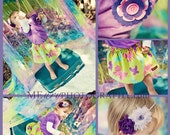 Buy 2 skirts get 1 FREE.... The Lime Green Corduroy Butterfly Twirl Skirt...handmade childrens clothing by laken and lila