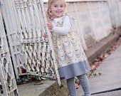The yellow and grey polka dot Smocked Dress... handmade childrens clothing by laken and lila