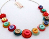 Multicolour Button Necklace