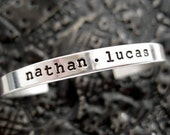 Hand Stamped Jewelry - Personalized Cuff Bracelet - Sterling Silver - Bragging Cuff