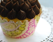Dozen Amy Butler Paisley Cupcake \/ Muffin Wrappers