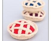 Crochet  Food Blueberry Pie Amigurumi Play Food