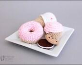 Crochet Play Food Sweet Shop Treats