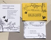 Love Birds Wedding Invitation or  Tree Save the Dates