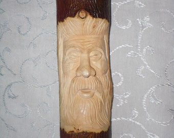 Hand Carved Wood Spirit, Miffed