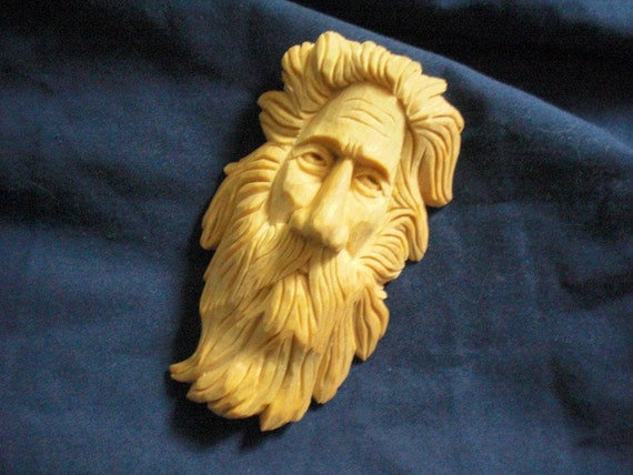 Wood Spirit, Taffy, the Wild Welshman of the Woods, Hand Carved