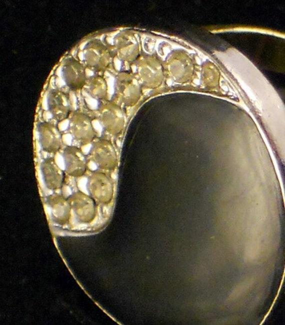 Vintage Black and Pave Yin Yang Ring