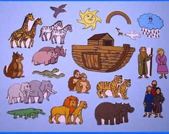 Noah's Ark Bible Story Felt / Flannel Board Set - Great for Sunday School