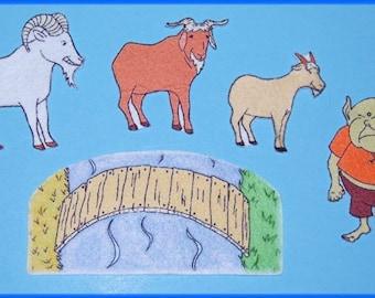 3 Billy Goats Gruff Felt / Flannel Board Set