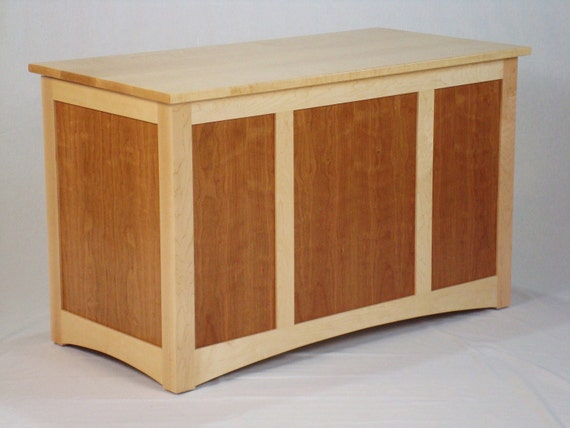 Birdseye Maple and Curly Cherry Blanket Chest
