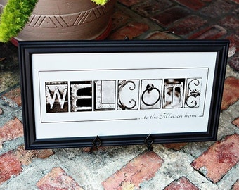 Personalized Name Frame Print (10x20) unframed, personalized home decor