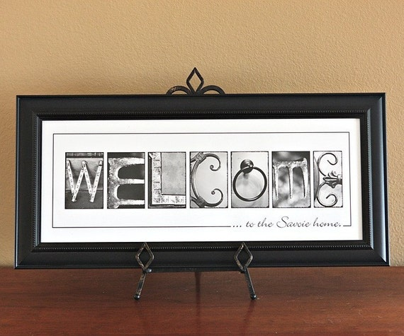 Personalized WELCOME Name Frame Print (8x20) unframed