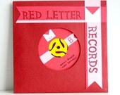 SALE - Red Letter Records - Cut Paper 45 Record