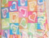 Fleece Blanket -- Hearts