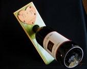 RESERVED for zquackenbush21  Personalized Balancing Wine Bottle Holder