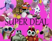 SUPER DEAL  - Pick any 10 Amigurumi patterns for 45.