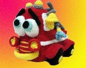 Crochet toy Amigurumi Pattern - Firetruck.