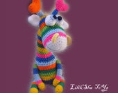 Amigurumi Pattern - Rainbow Giraffe.