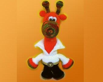 Crochet toy Amigurumi Pattern - Elvis Giraffe.